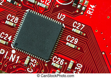 Circuit board - Image of a printed circuit board with...