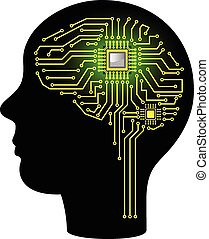 Circuit board in form of brain