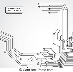 circuit board isolated on white background, vector illustration