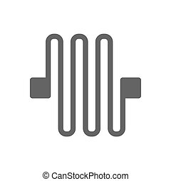 Circuit board line icon.
