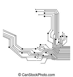 circuit board on white background