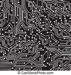 circuit board over black background vector illustration