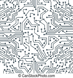circuit board over white background vector illustration