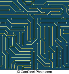 Circuit board seamless pattern background
