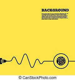 Circuit board sign icon. Technology symbol. - Electric plug...