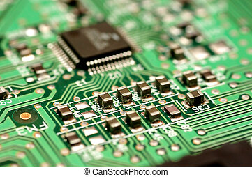 Circuit board - Close up of circuit board. Technology...