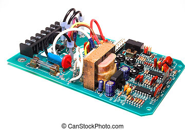 Circuit Board - A close-up of a printed circuit board.
