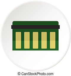 Circuit board, technology icon circle