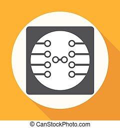 Circuit board, technology icon