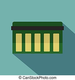 Circuit board, technology icon, flat style