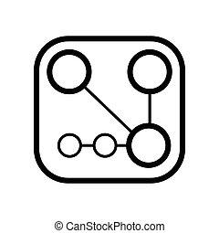 Circuit board, technology icon line