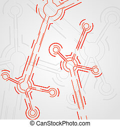 circuit board vector background, technology illustration,...