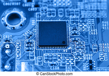 Circuit board with chip