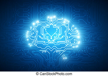 Circuit brain background