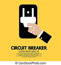 Circuit Breaker. - Circuit Breaker Vector Illustration.