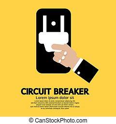 Circuit Breaker. - Circuit Breaker Vector Illustration.