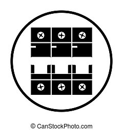 Circuit breaker icon. Thin circle design. Vector...