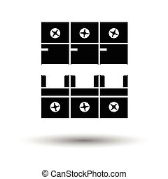 Circuit breaker icon. White background with shadow design....