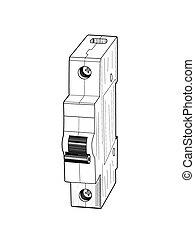 Circuit breaker - vector illustration.