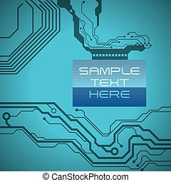 circuit electric design, vector illustration eps10 graphic
