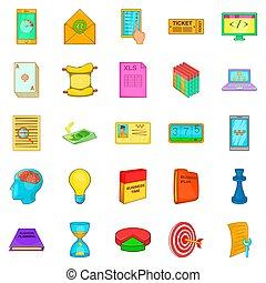 Circuit icons set, cartoon style