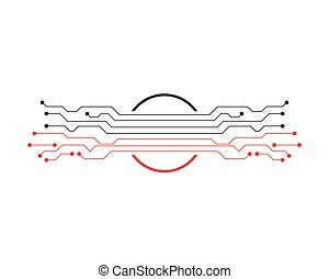 Circuit illustration design logo and symbols vector -...