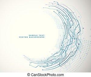 circuit mesh diagram in circular style