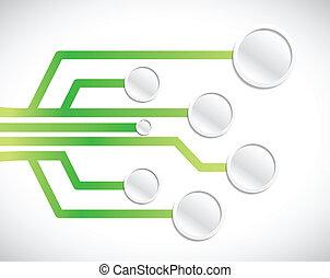 circuit network diagram illustration design