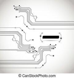 circuit, résumé, fond, texture, planche