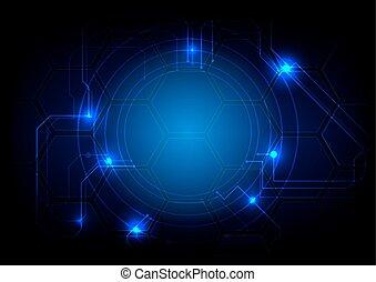 circuit, résumé, illustration, vecteur, fond, technologie