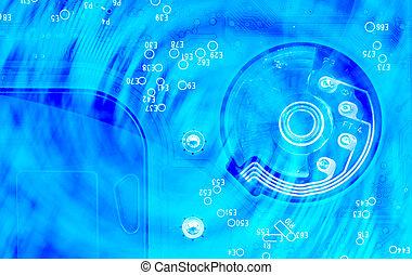 circuit, résumé, texture, panneau ordinateur, fond, électronique
