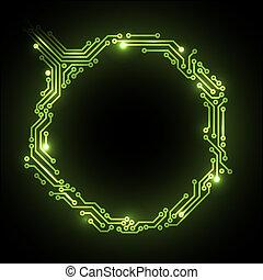 circuit, résumé, vecteur, planche, fond
