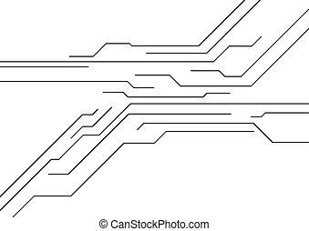 circuit, technologie, planche, fond
