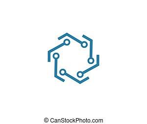 circuit technology logo vector template