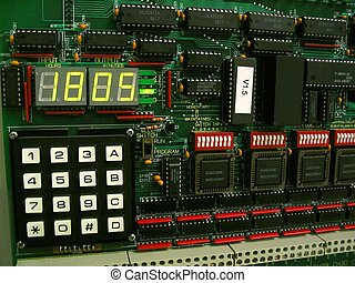 This is a lighting control panel timer and circuit board.