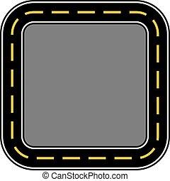 circuit, vecteur, illustration, course