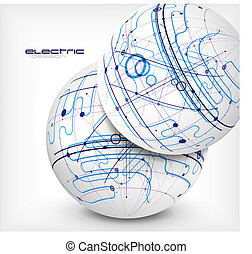 Circuit vector abstract background