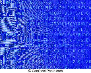 circuito, datos, plano de fondo