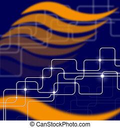 circuito eletrônico, mostra, tech elevado, e, fundo