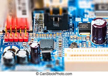 circuito elettronico, asse, pcb