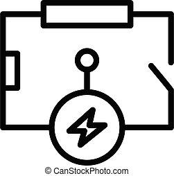 circuito, estilo, ícone, elétrico, esboço, esquema
