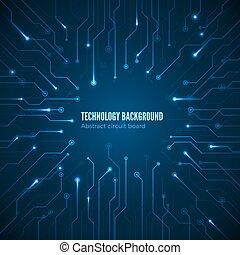 circuito, hardware, texture., computer, chipset, connection., concetto, di, scheda circuito, fondo., astratto, computer, motherboard., vettore, illustrazione