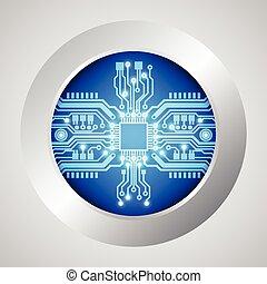circuito, ilustração, vetorial, tábua, fundo, tecnologia