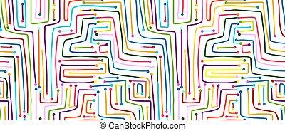 circuito, pattern., seamless, computador, board.