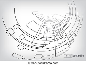 circuitos, linhas, fundo, vetorial