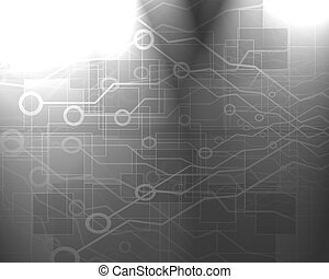 circuitry - computer circuit on a soft grey background