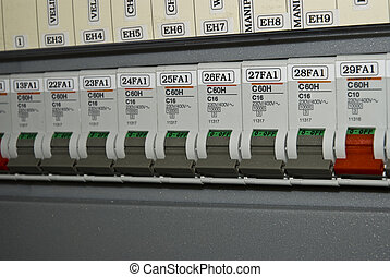 Circuits breaker in switch board. Please visit my portfolio.