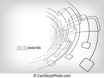 circuits, lignes, fond, vecteur