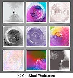 circulaire, ensemble, vecteur, backgrounds., illustration.