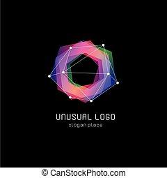 circulaire, formes, inhabituel, coloré, résumé, polygonal,...